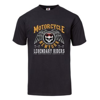 T-shirt Motorcycle New York (Black)