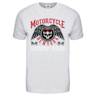 T-shirt Motorcycle New York (light grey)