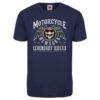 T-shirt Motorcycle New York (blue marin)