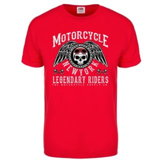 T-shirt Motorcycle New York (red)