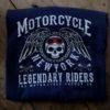 T-shirt Motorcycle New York (marinblå)