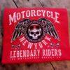 T-shirt Motorcycle New York (röd)